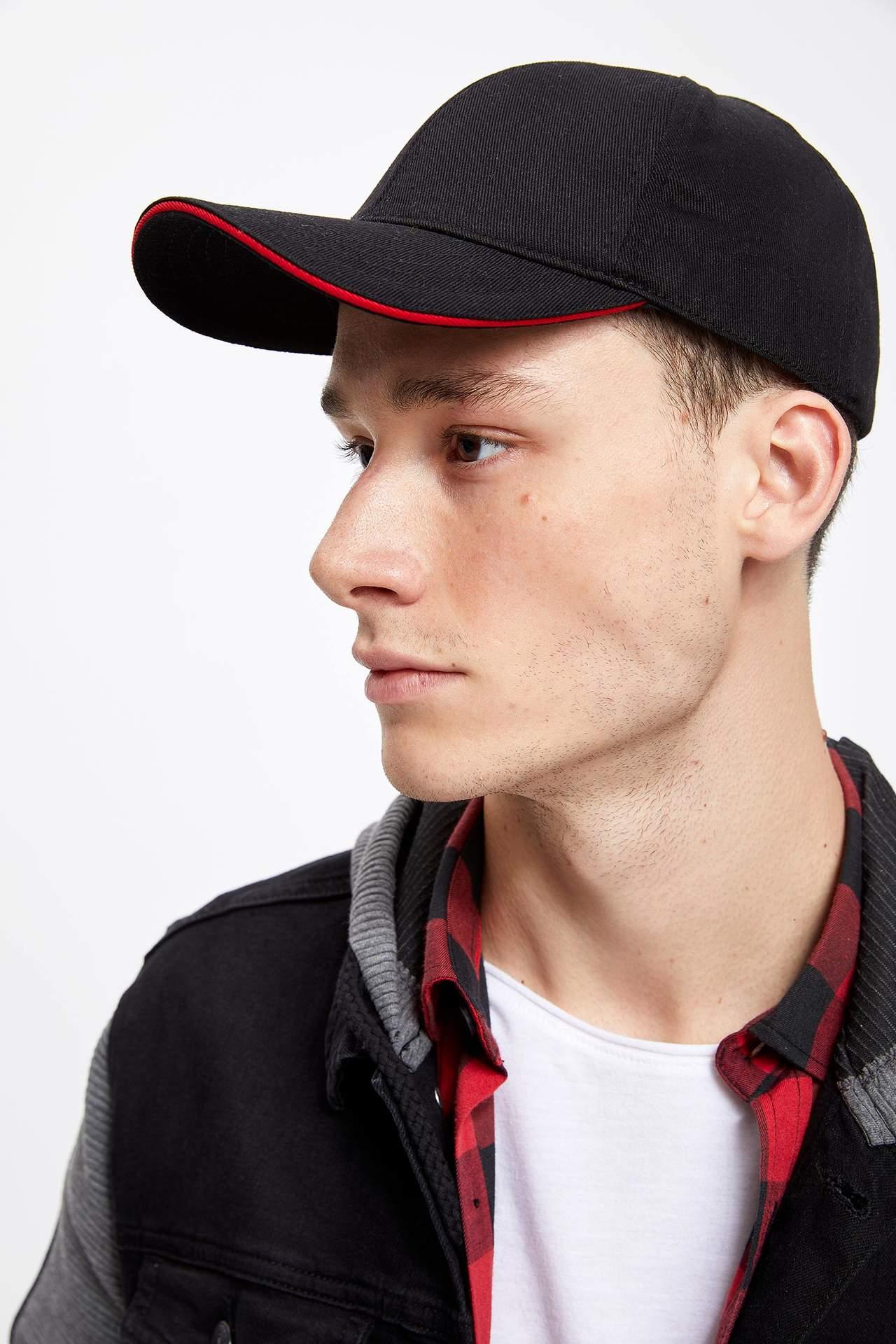 DeFacto Erkek Çocuk Baskılı Şapka Siyah male