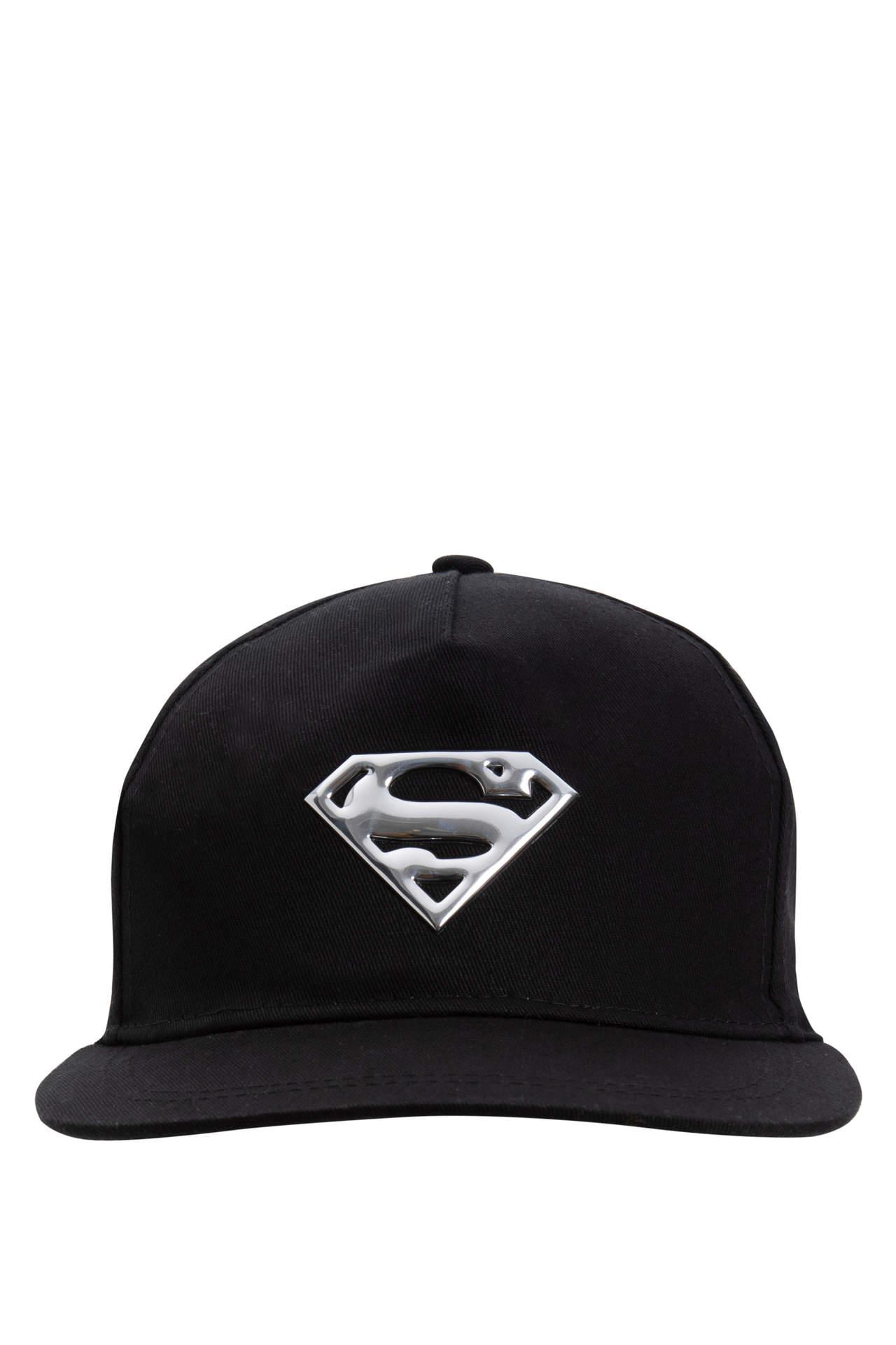 DeFacto Erkek Çocuk Superman Lisanslı Şapka Siyah male