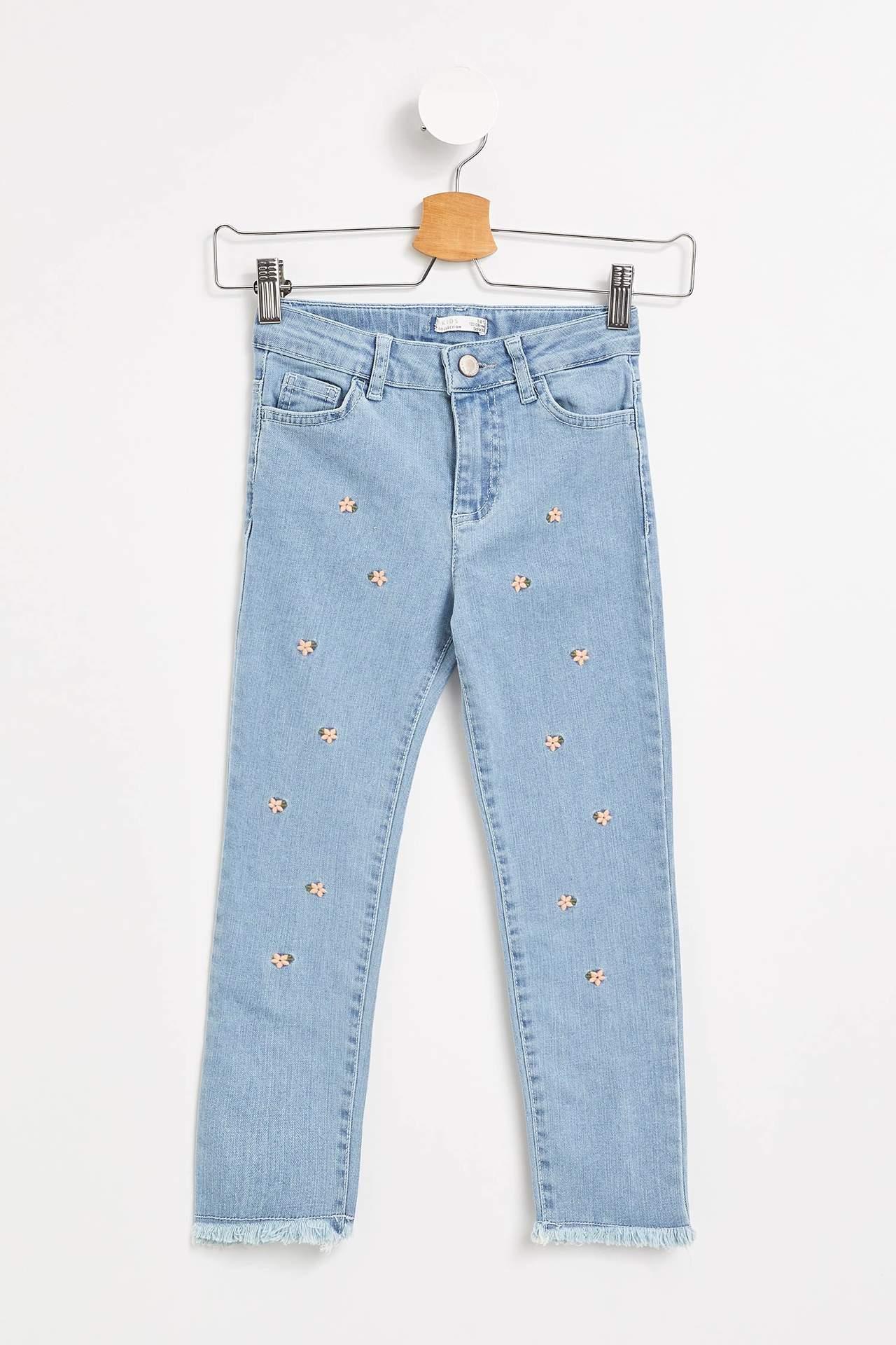 DeFacto Kız Çocuk Jean Pantolon Mavi female