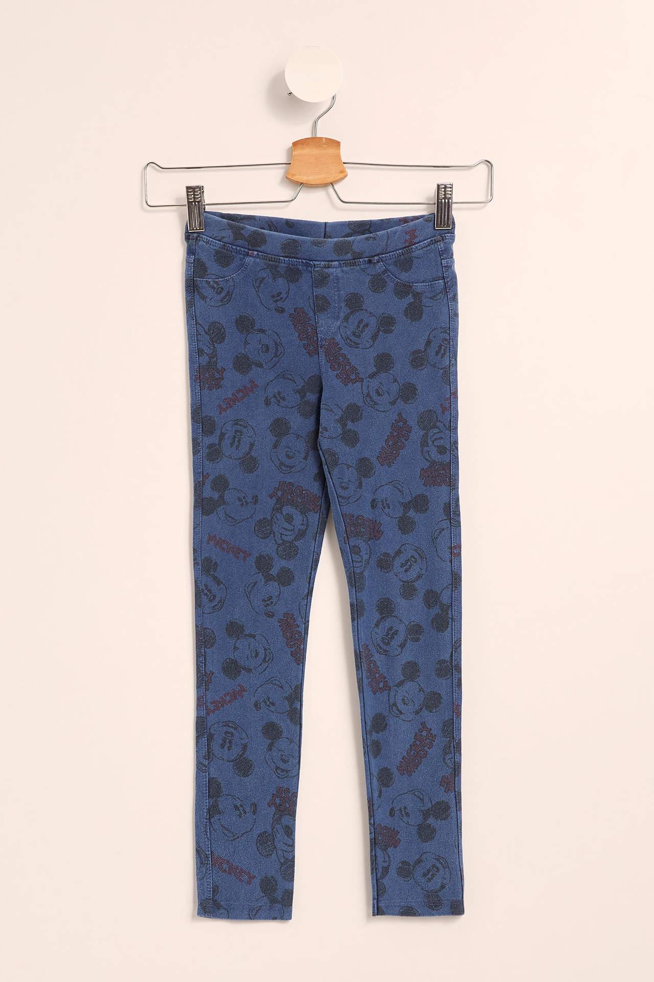 DeFacto Kız Çocuk Mickey Mouse Lisanslı Eşofman Altı Mavi female
