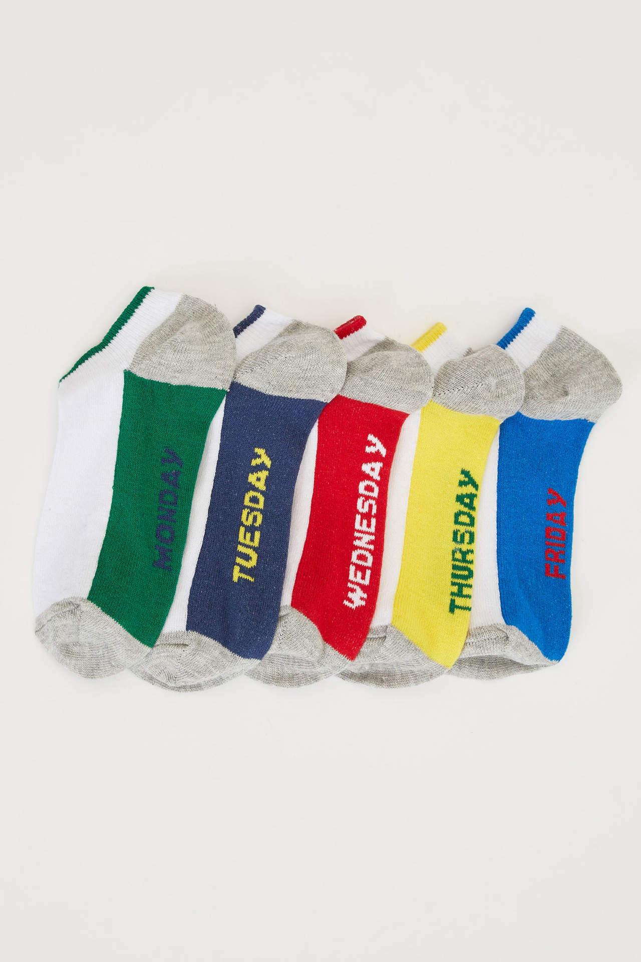 DeFacto Erkek Çocuk 5'li Kısa Çorap male