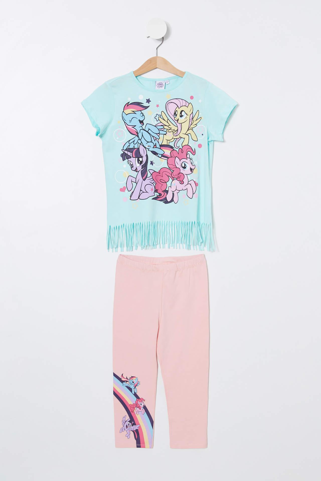 DeFacto Kız Çocuk My Little Pony Lisanslı Pijama Takımı Turkuaz female