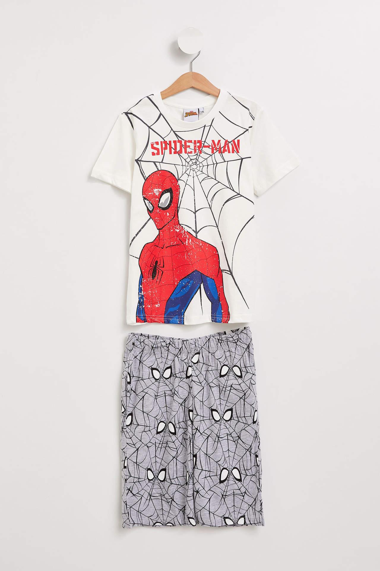 DeFacto Erkek Çocuk Spiderman Lisanslı Pijama Takımı Beyaz male