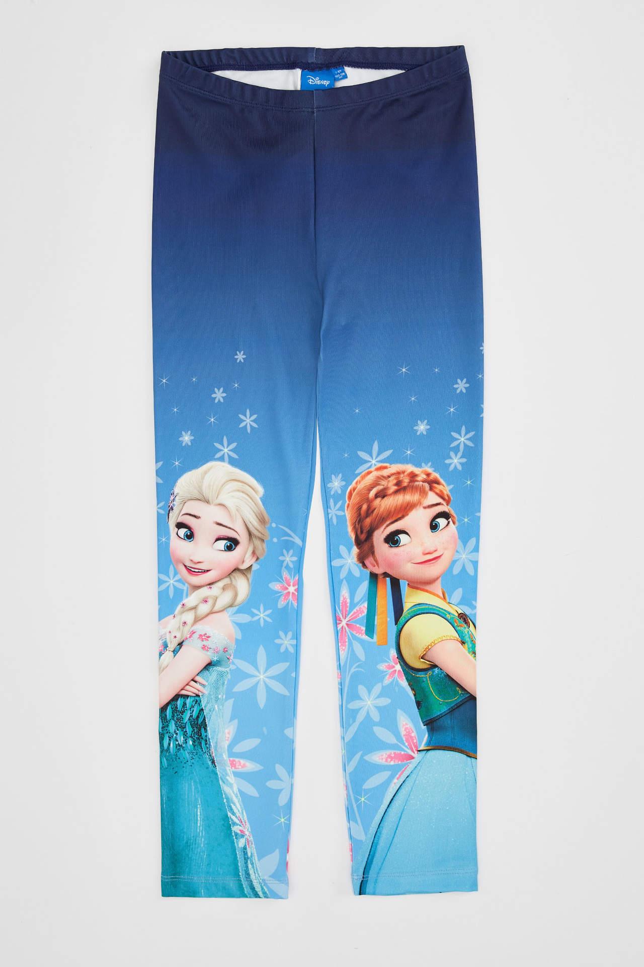 DeFacto Kız Çocuk Slim Fit Frozen Lisanslı Tayt Lacivert female