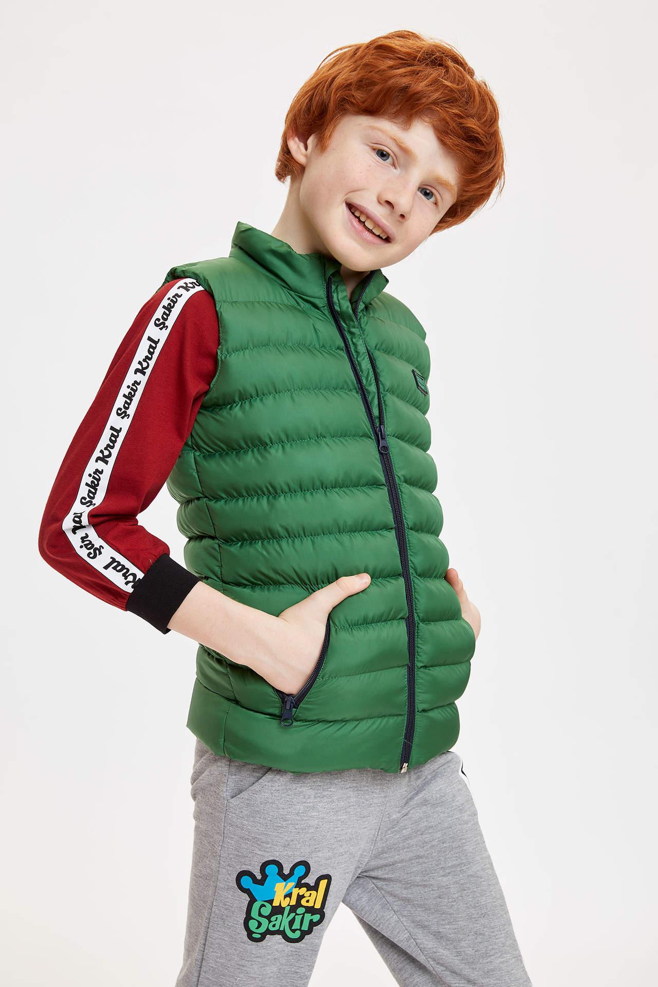 DeFacto Erkek Çocuk Basic Şişme Yelek Yeşil male