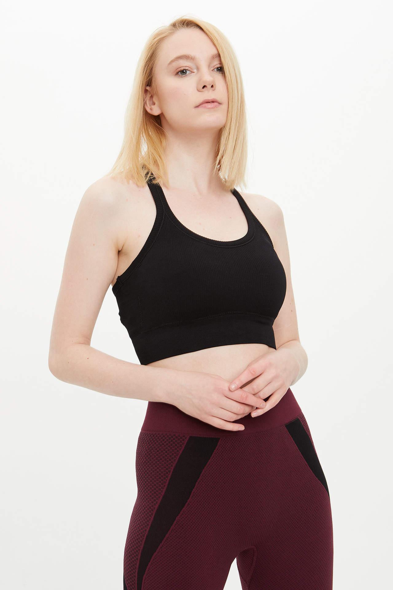 DeFacto Kadın Slim Fit Sporcu Sütyeni Siyah female
