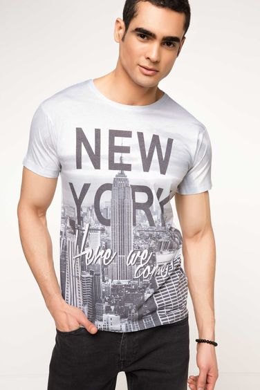 DeFacto New York Baskılı T-shirt