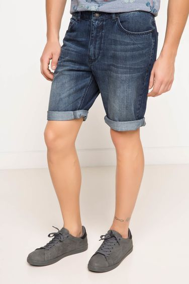 DeFacto Basic Denim Bermuda
