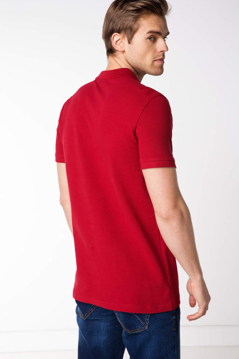 DeFacto Bordo Erkek Basic Polo T-shirt 3
