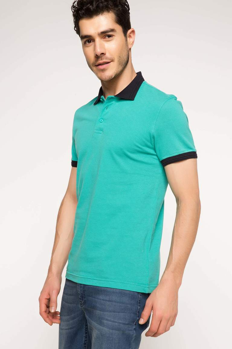DeFacto Karma 3 Erkek Basic Slim Fit Polo T-shirt 1