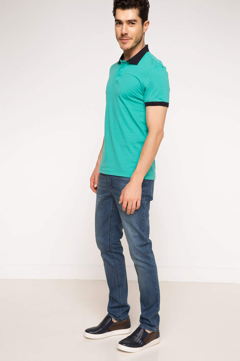 DeFacto Karma 3 Erkek Basic Slim Fit Polo T-shirt 2