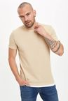 Bisiklet Yaka Slim Fit Basic T-shirt