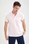 Regular Fit Polo Yaka Basic Kısa Kollu Tişört