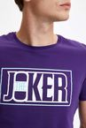Batman Joker Lisanslı Slim Fit Pamuklu Tişört