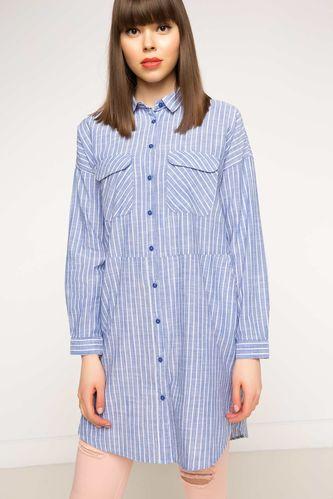 Cepli Desenli Bluz DeFacto