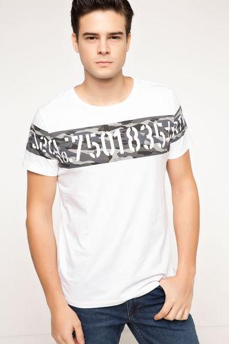 DeFacto Uzun Fit Baskılı T-shirt
