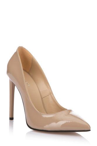 DeFacto Parlak Deri Görünümlü Topuklu Ayakkabı