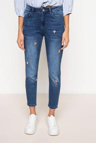 DeFacto Taş Detaylı Denim Pantolon