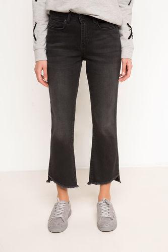DeFacto Püskül Detaylı Denim Pantolon