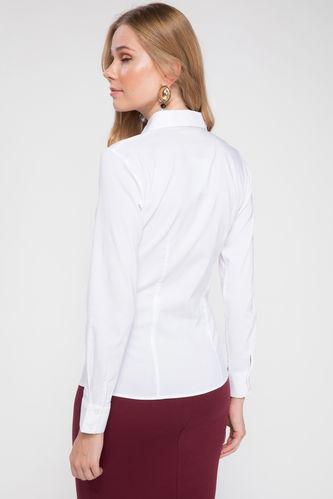 پیراهن آستین بلند سفید