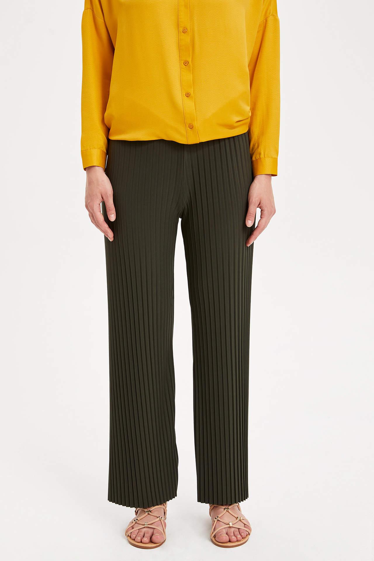 Defacto Kadın Çizgili Pantolon