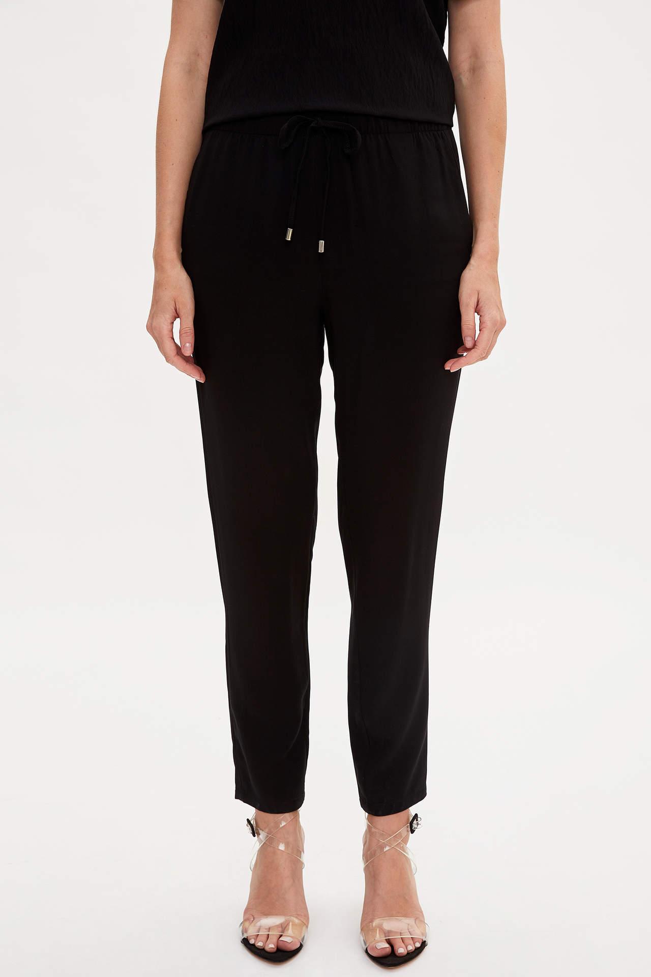 Defacto Kadın Elastik Belli Relax Fit Pantolon