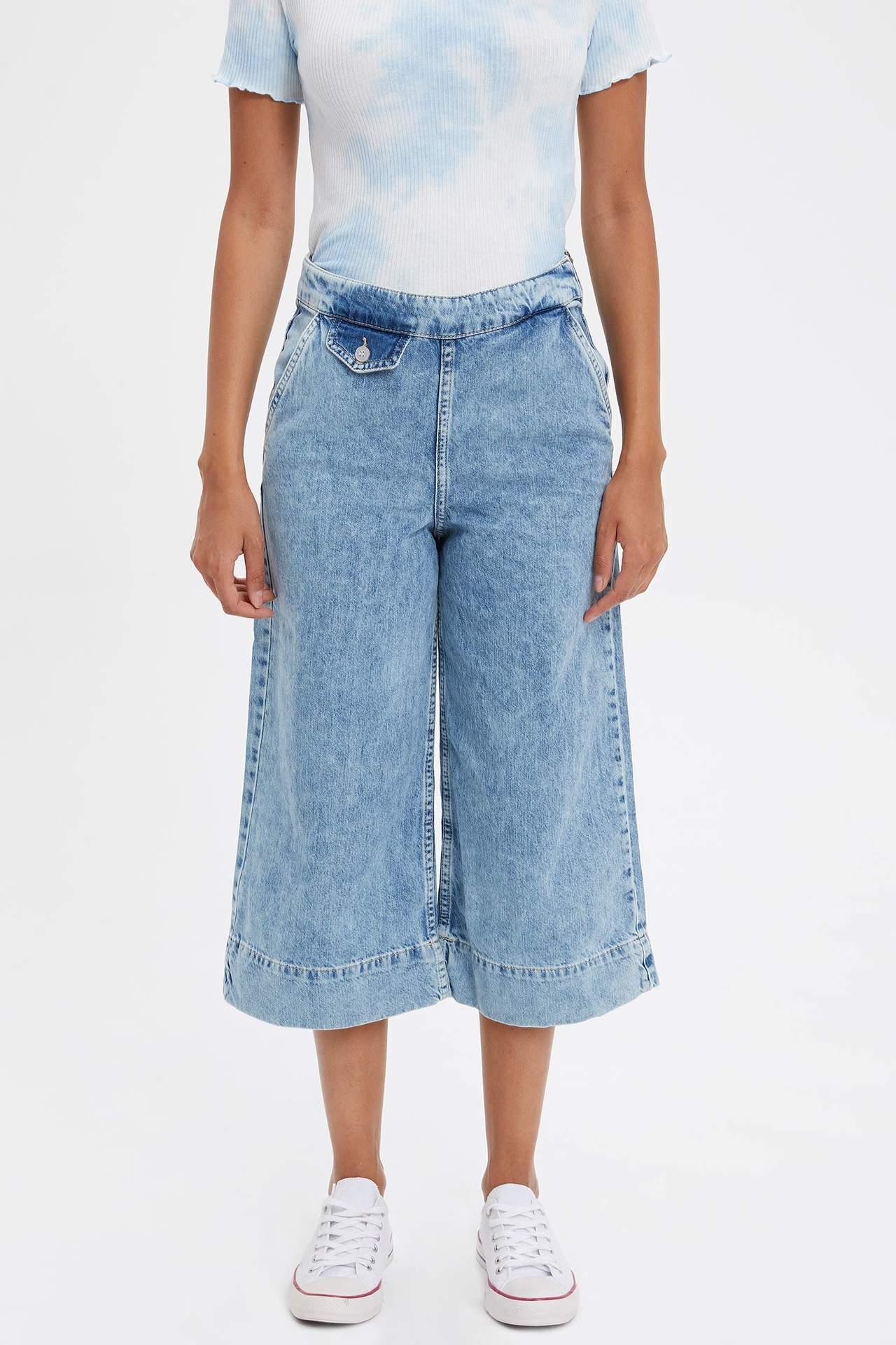 Defacto Kadın Mary Straight Fit Jean Pantolon