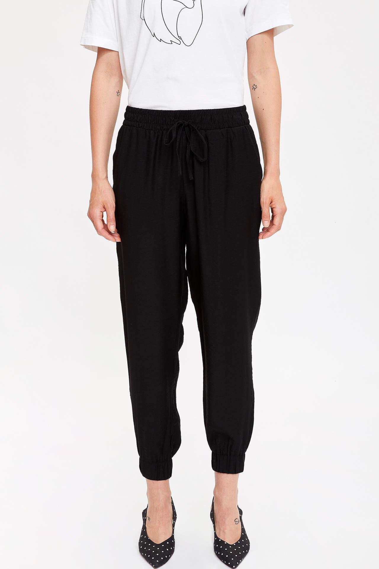 Defacto Kadın Paçası Lastikli Relax Fit Pantolon