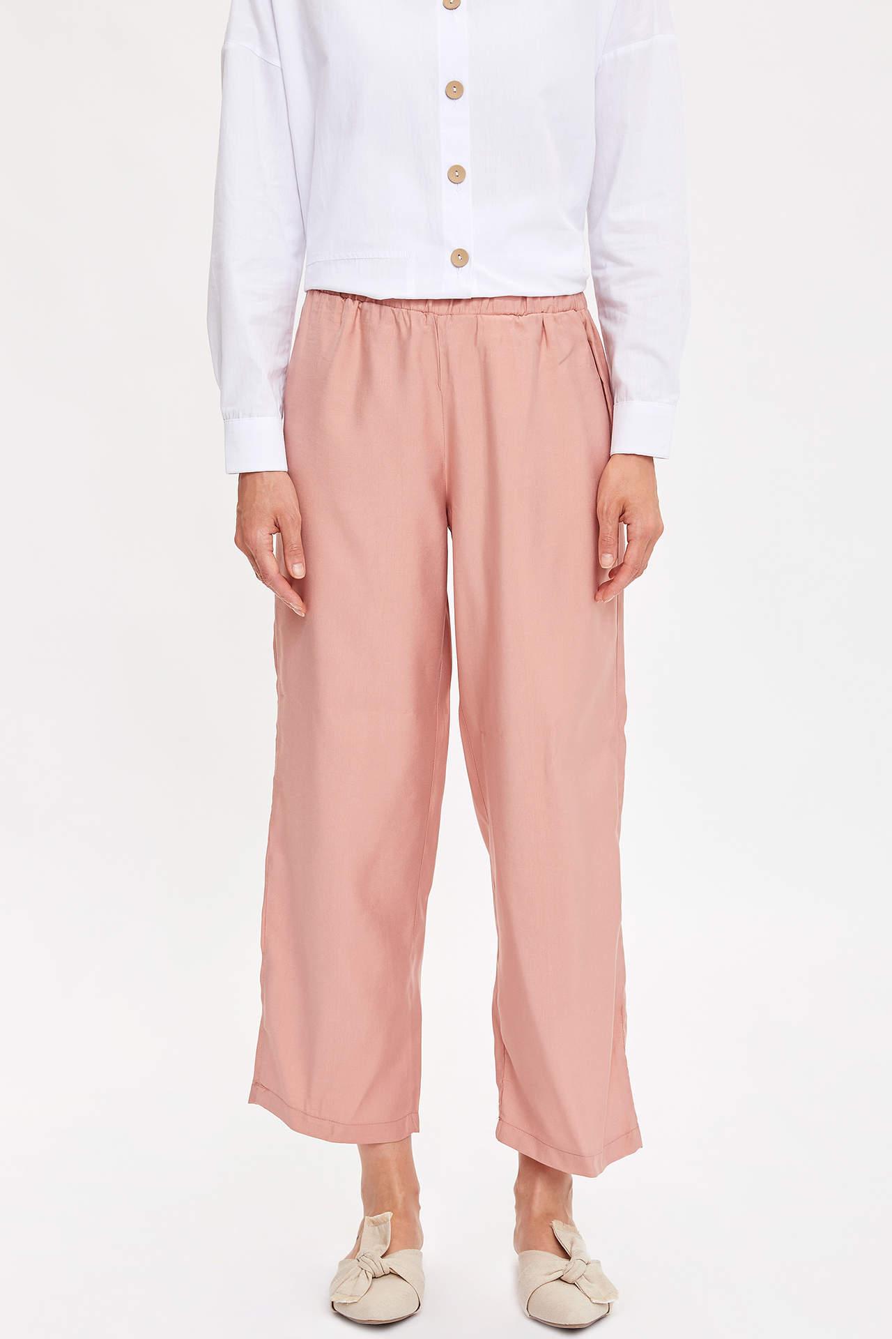 Defacto Kadın Relax Fit Dokunma Pantolon