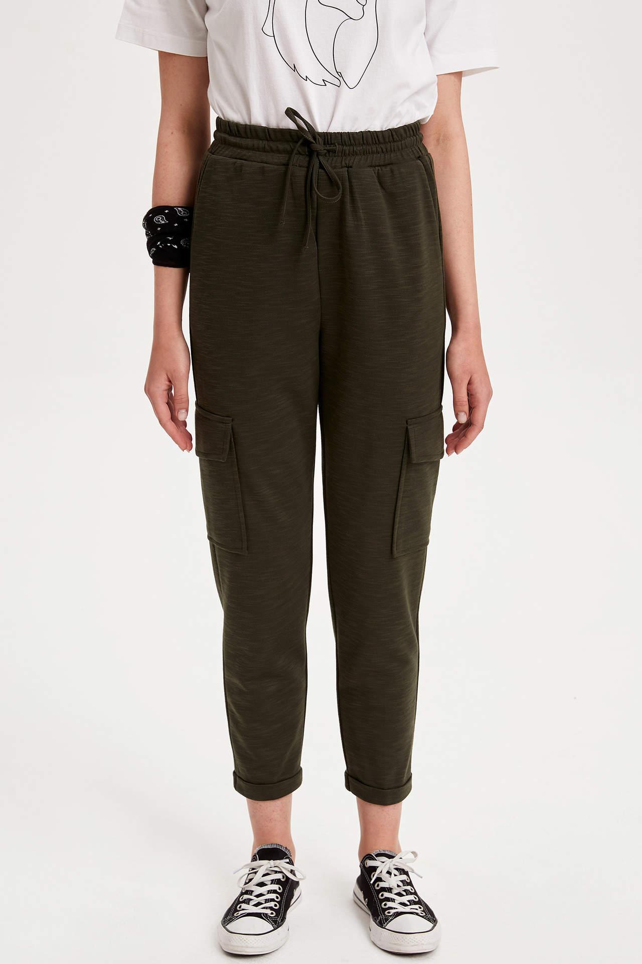 Defacto Kadın Örme Kargo Pantolon