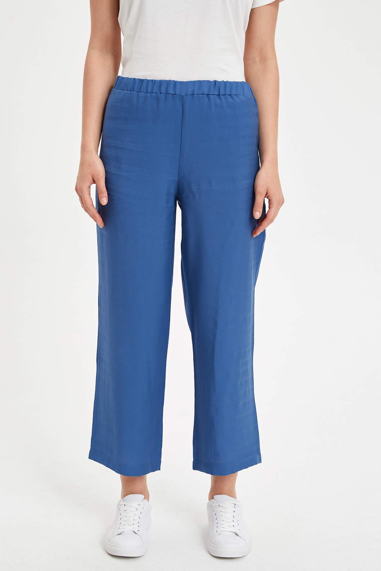 Defacto Kadın Rahat Kesim Dokuma Pantolon