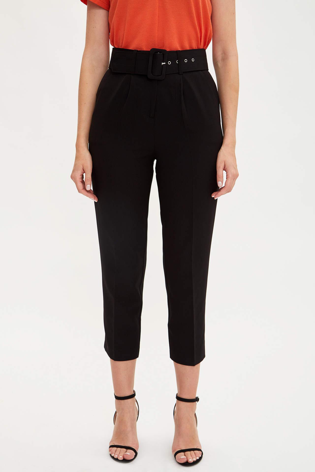 Defacto Kadın Slim Fit Yüksek Bilek Pantolon