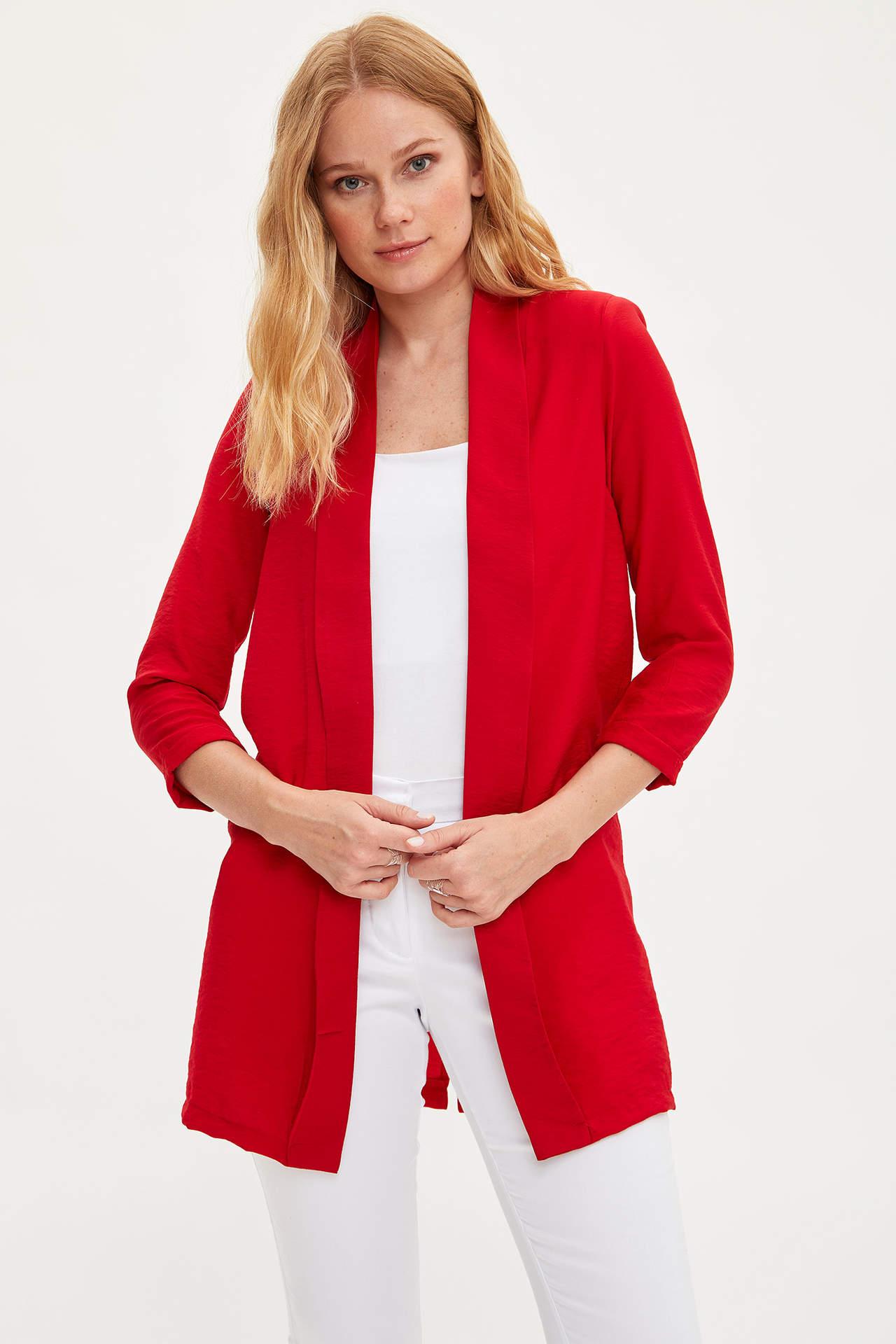 Defacto Kadın Şal Yaka Blazer Ceket