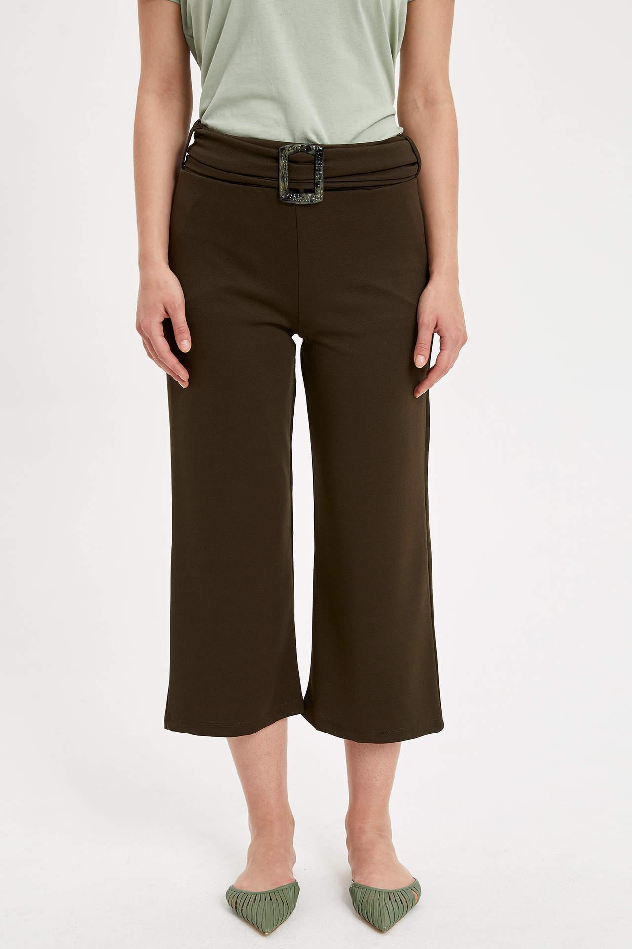 Defacto Kadın Kendinden Kemerli Rahat Pantolon