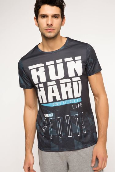 DeFacto Run Hard Baskılı Sporcu T-shirt
