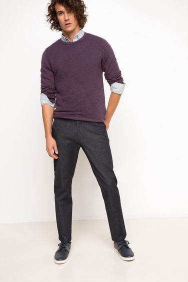 DeFacto Slim Fit Chino Denim Pantolon