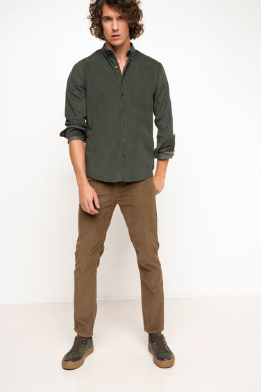 DeFacto Slim Fit Kadife Pantolon