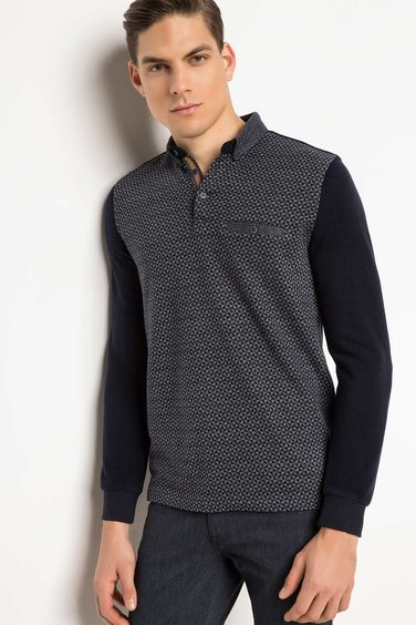 DeFacto Polo Yaka Slim Fit Sweatshirt