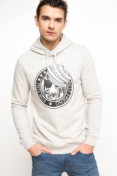 DeFacto Baskılı Slim Fit Sweatshirt
