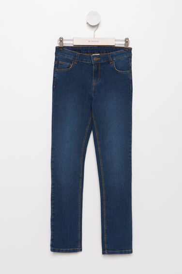 DeFacto Desenli Slim Fit Denim Pantolon