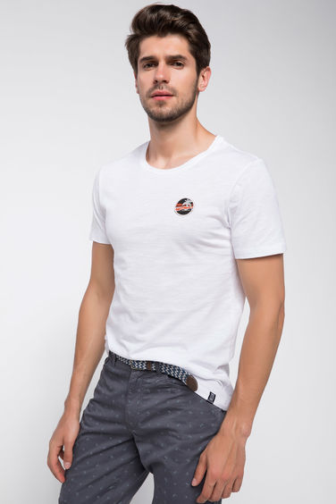 DeFacto Patch Detaylı Basic T-shirt