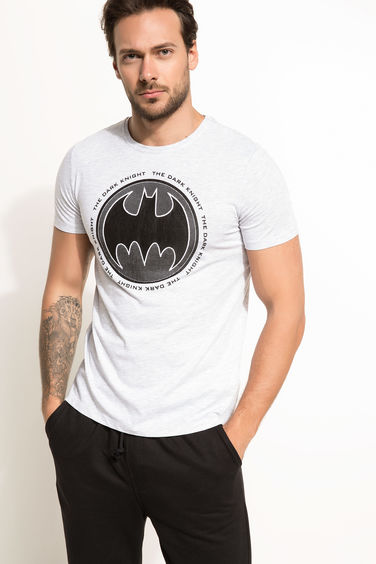 DeFacto Slim Fit Batman Lisanslı T-shirt