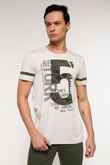 DeFacto Long Fit Baskılı T-shirt