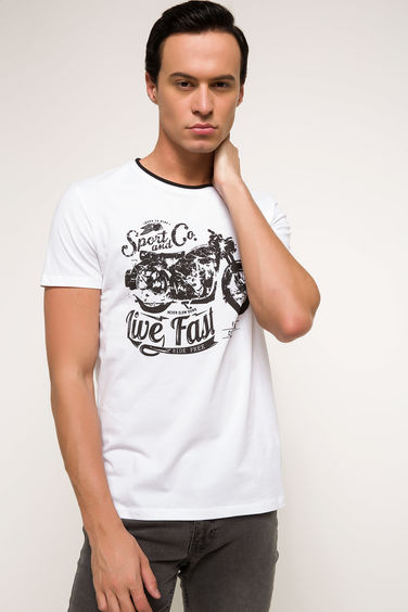 DeFacto Baskılı Slim Fit T-shirt