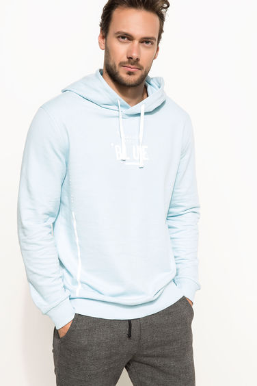 DeFacto Slim Fit Baskılı Sweatshirt