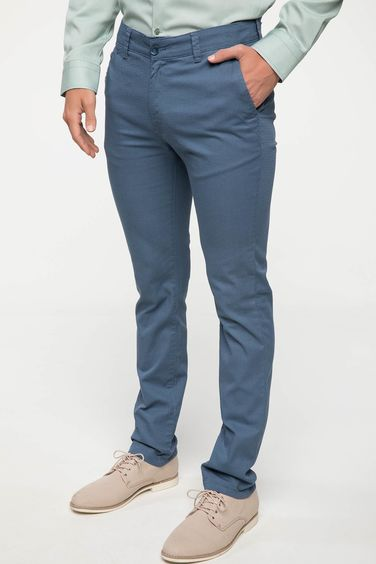 DeFacto Bruno Slim Fit Desenli Pantolon