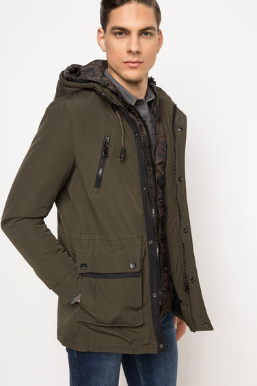 DeFacto Kapşonlu Regular Fit Parka