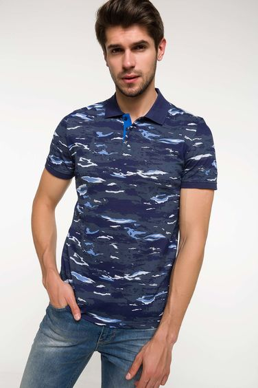 DeFacto Desenli Slim Fit Polo T-shirt