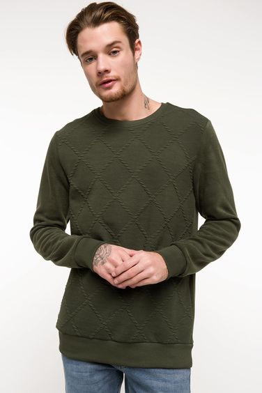 DeFacto Slim Fit Sweatshirt