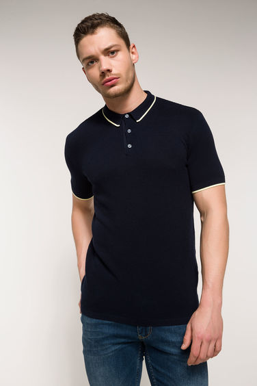 DeFacto Slim Fit Polo Yaka Kazak